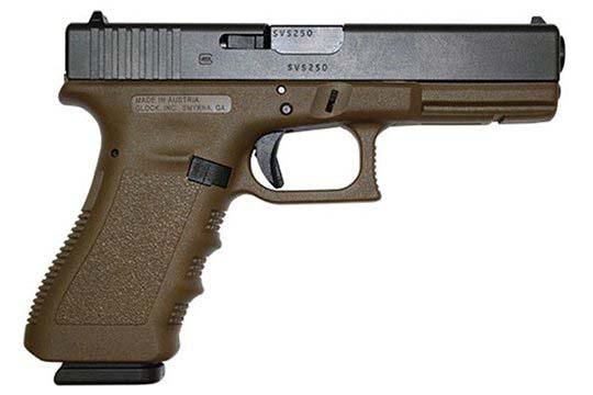 Glock G17 Gen 3 9mm Luger Flat Dark Earth Cerakote Frame