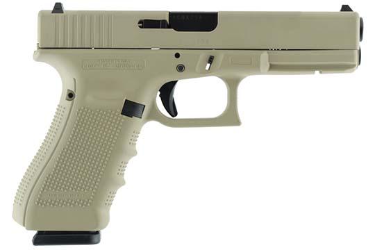 Glock G17 Gen 4 9mm Luger Desert Tan Cerakote Frame