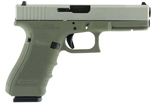 Glock G17 Gen 4 9mm Luger Forest Green Cerakote Frame
