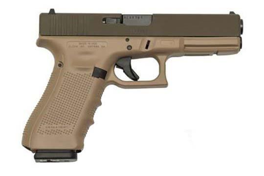 Glock G17 Gen 4 9mm Luger Patriot Brown Cerakote Frame
