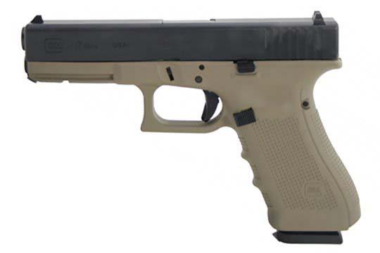 Glock G17 Gen 4 9mm Luger Coyote Tan Cerakote Frame