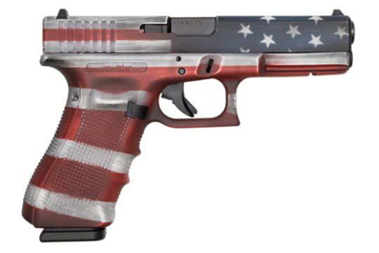 Glock G17 Gen 4 9mm Luger American Flag Cerakote Frame