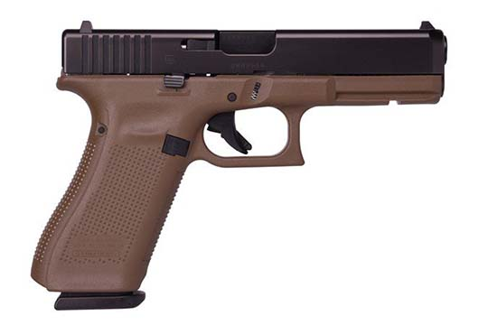 Glock G17 Gen 5 9mm Luger Flat Dark Earth Cerakote Frame