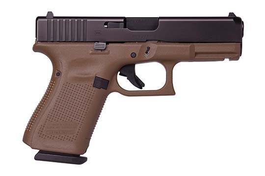 Glock G19 Gen 5 9mm Luger Flat Dark Earth Cerakote Frame