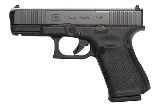 Glock G19 Gen 5 MOS 9mm Luger Black Frame