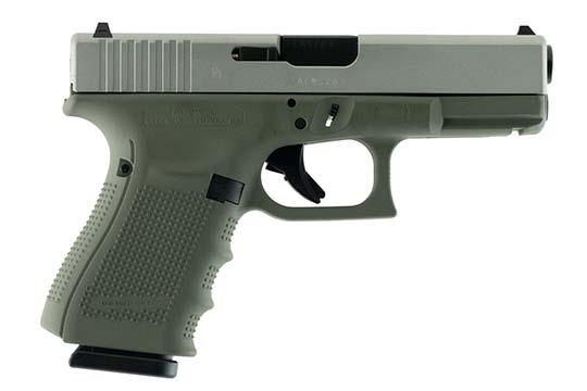 Glock G19 Gen 4 9mm Luger Forest Green Cerakote Frame
