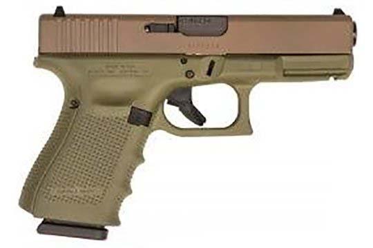 Glock G19 Gen 4 9mm Luger Bazooka Green Cerakote Frame