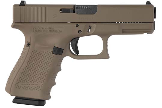 Glock G19 Gen 4 9mm Luger Flat Dark Earth Cerakote Frame