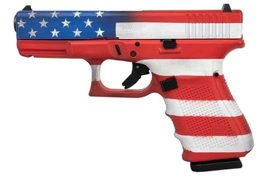 Glock G19 Gen 4 9mm Luger American Flag Cerakote Frame