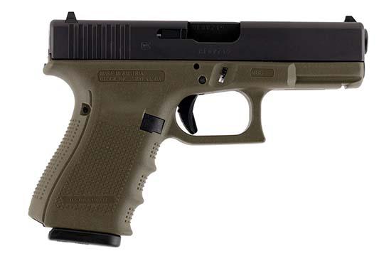 Glock G19 Gen 4 9mm Luger OD Green Cerakote Frame
