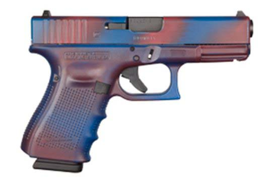 Glock G19 Gen 4 9mm Luger Battleworn Red/Blue Cerakote Frame