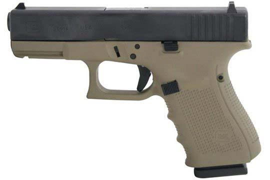 Glock G19 Gen 4 9mm Luger Flat Dark Earth Cerakote Frame