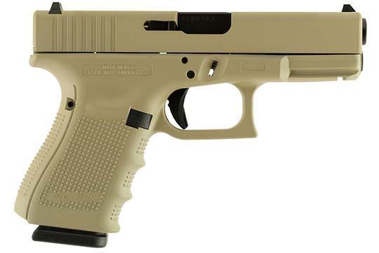 Glock G19 Gen 4 9mm Luger Desert Tan Cerakote Frame