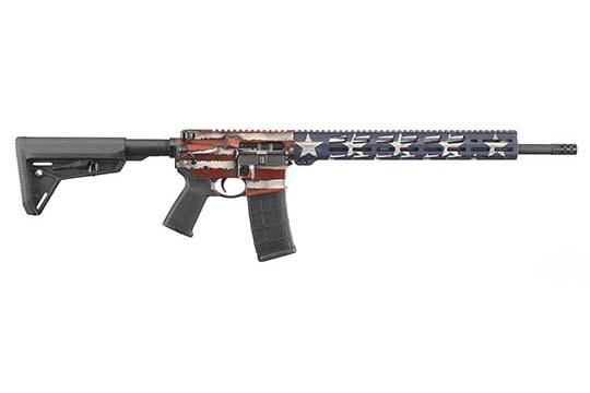 Ruger AR-556 Free-Float Handguard 5.56mm NATO American Flag Cerakote Receiver