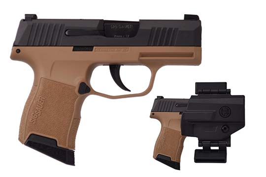 Sig Sauer P365 Micro Compact 9mm Luger Coyote Tan PVD Frame